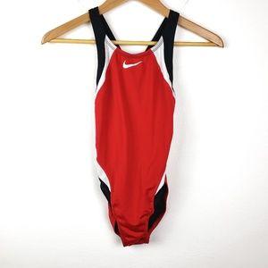 Nike | One Piece Swimsuit Beach Wear Red Black 30